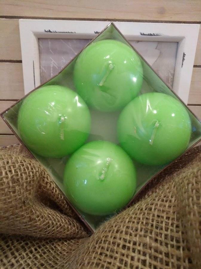 Svíčka koule - zelená