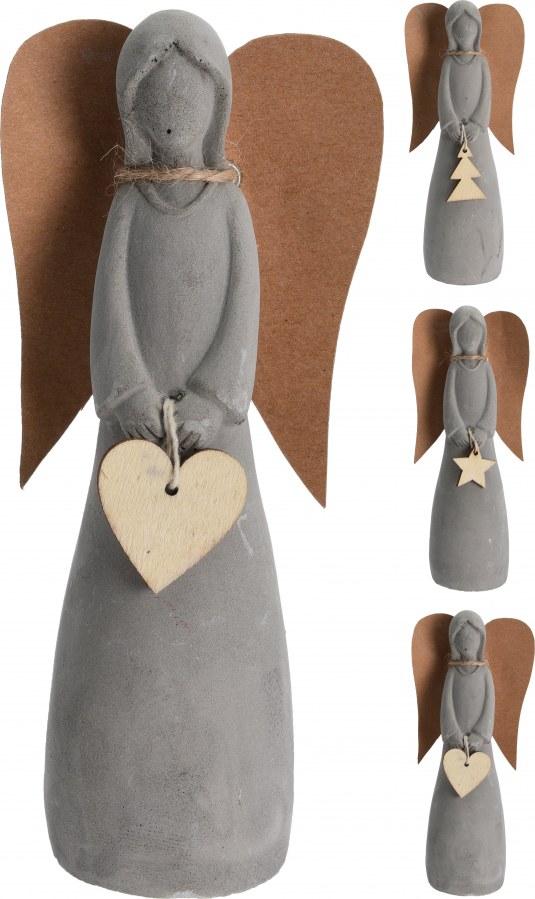Andělíček s papírovými křídly - 15CM