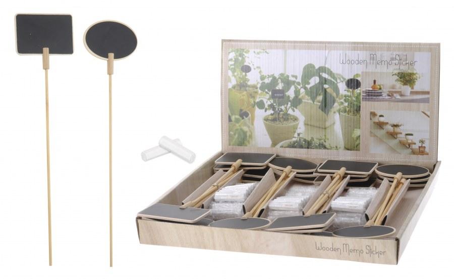 Mini tabulky na bylinky - ovál, obdélník - dlouhé - 6ks