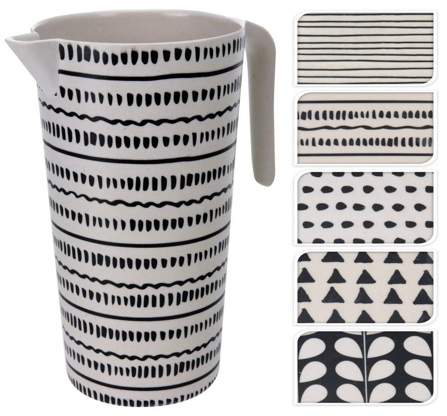 Plastový džbán - černý vzor
