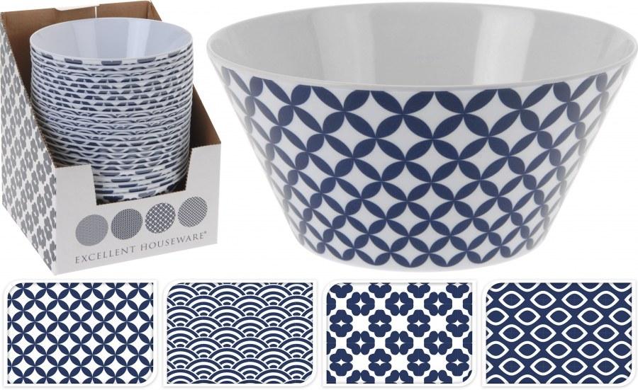 Plastová miska - modrý vzor
