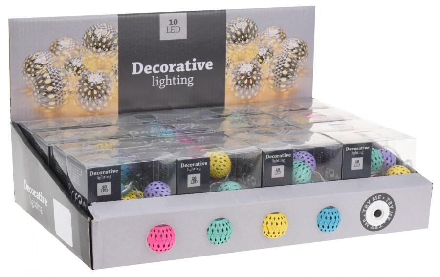 Dekorativní světelný LED řetěz - koule