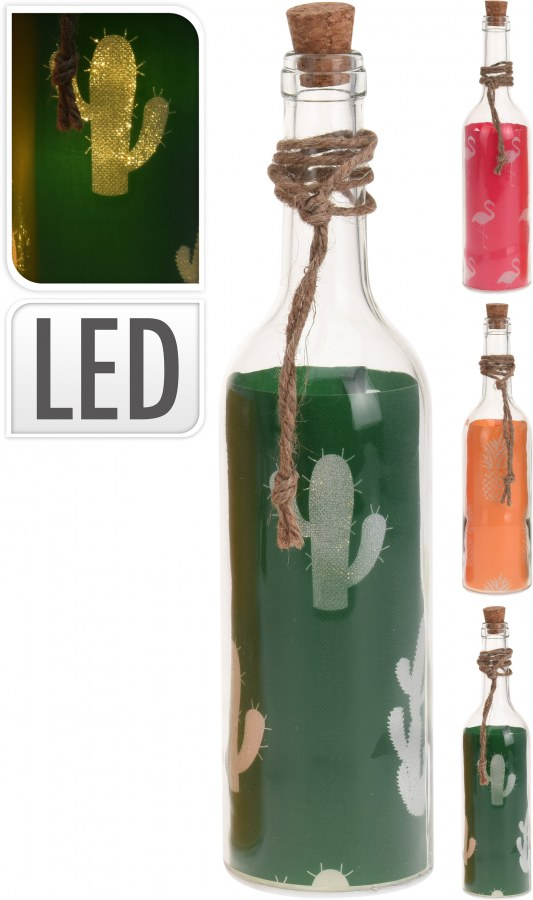 Svítící LED láhev - hit letošního léta