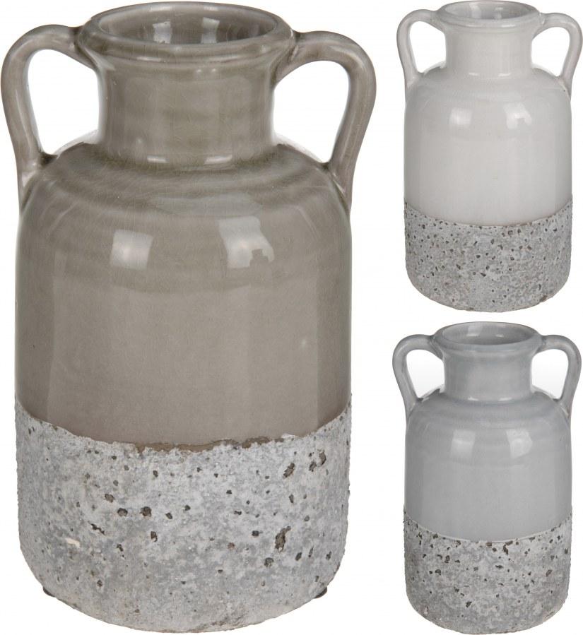 Keramická váza s uchem
