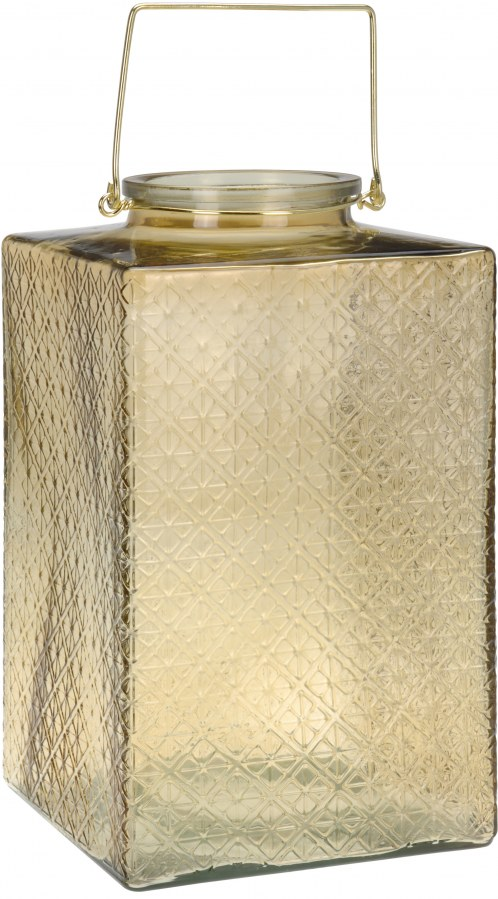 Lucerna z jantarového skla