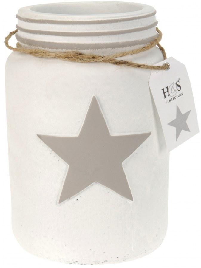 Cementová váza s hvězdou