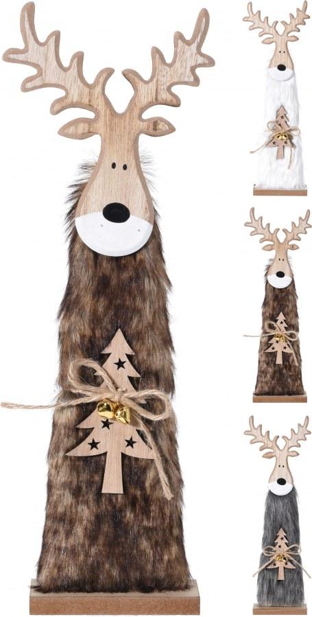 Vánoční sob s kožešinou