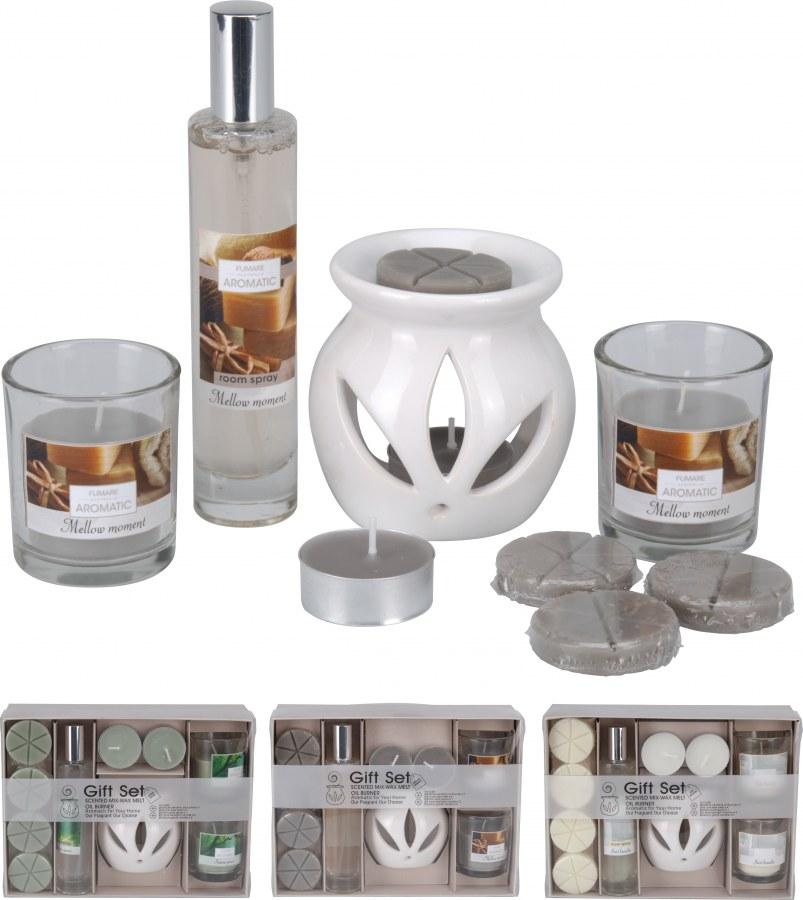 Dárkové balení - aroma set s lampičkou a osvěžovačem