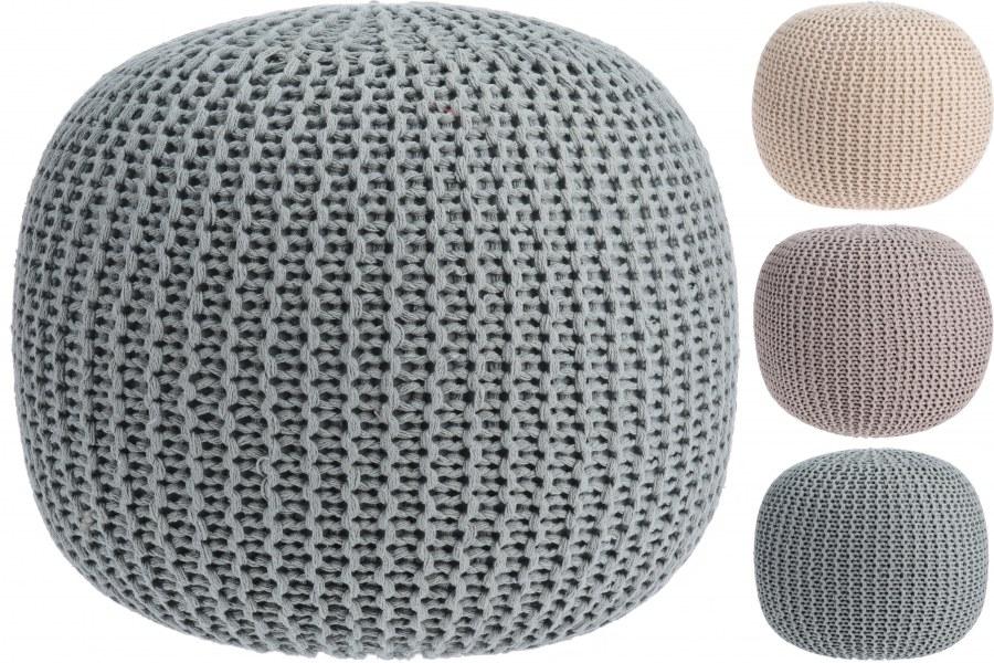 Bavlněný pletený puf