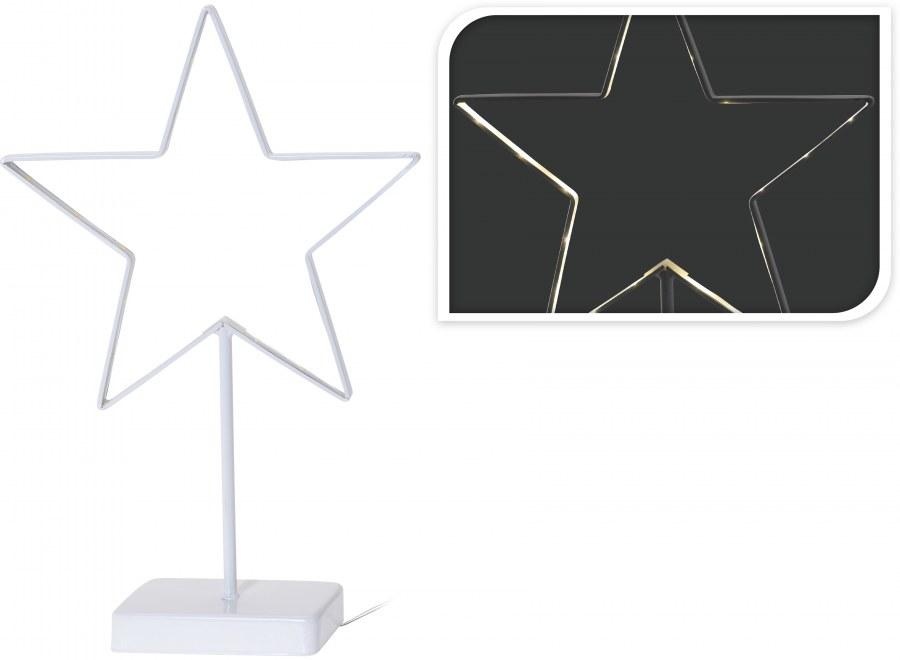 Svítící hvězda LED za okno - 38CM