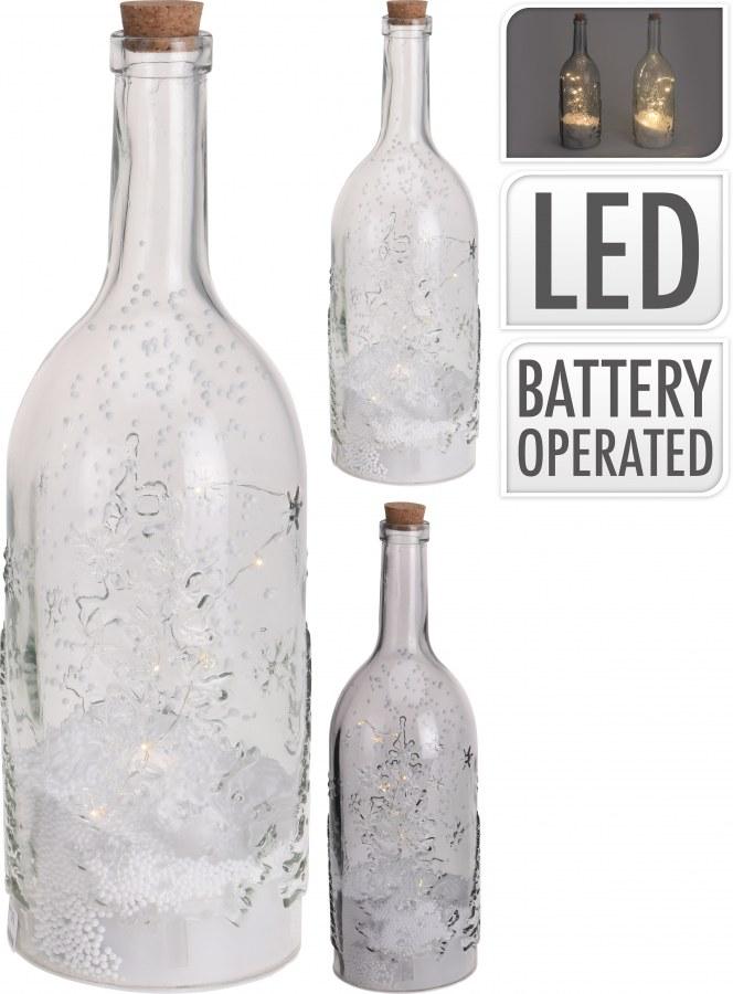 Vánoční LED láhev - 40CM