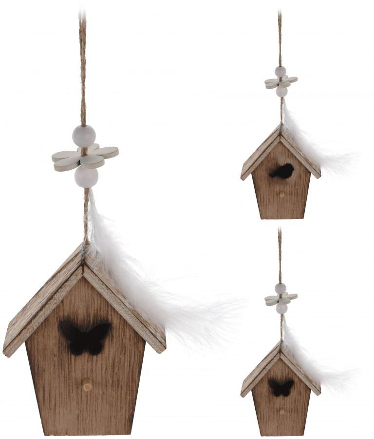 Dekorace - ptačí budka přírodní