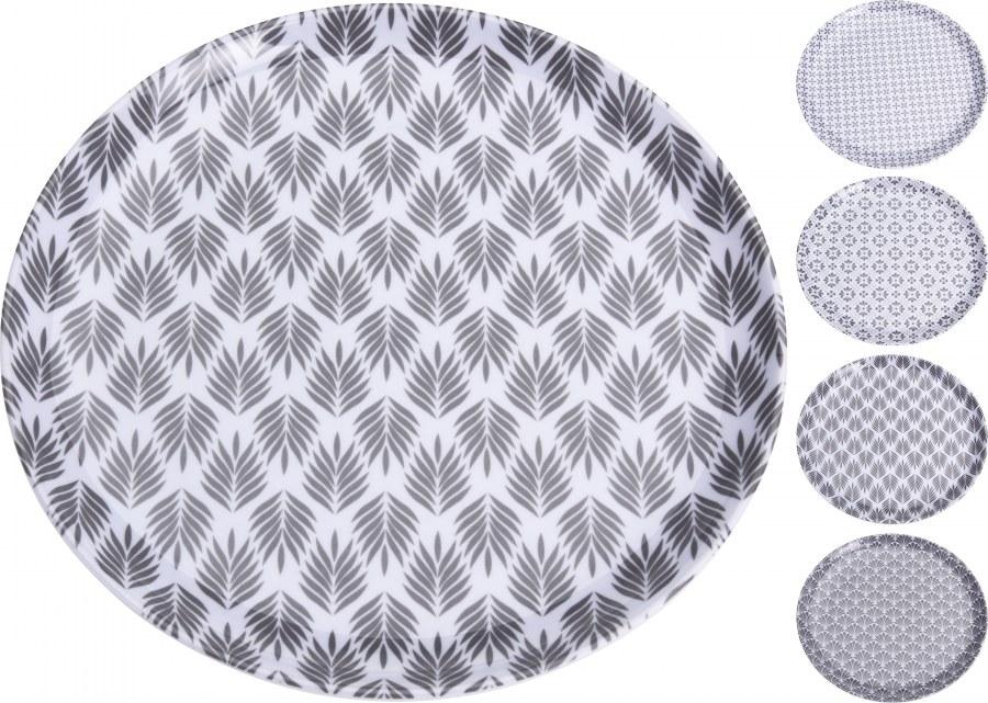 Talíř malý - šedý vzor - 20cm