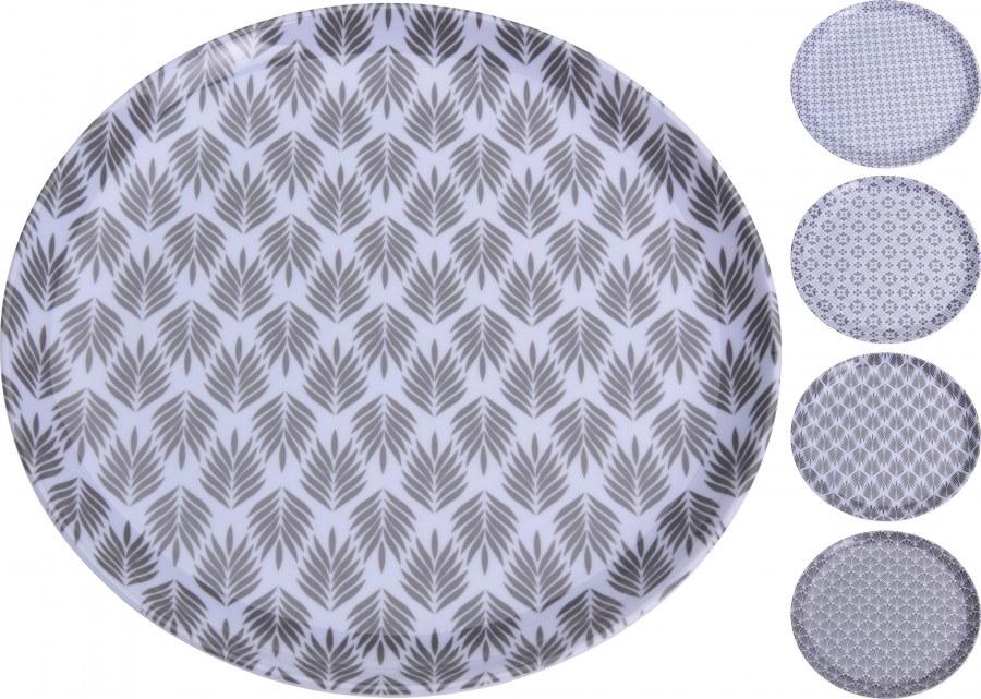 Talíř velký - šedý vzor - 28cm