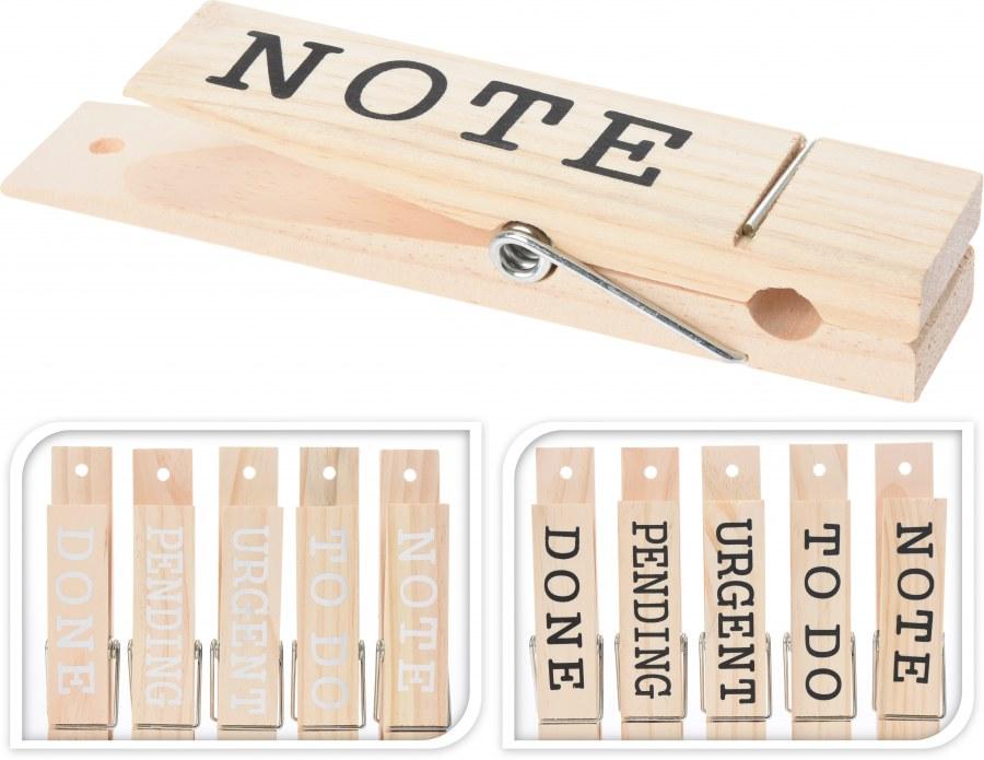 Dřevěný kolíček nápisem - 5ks