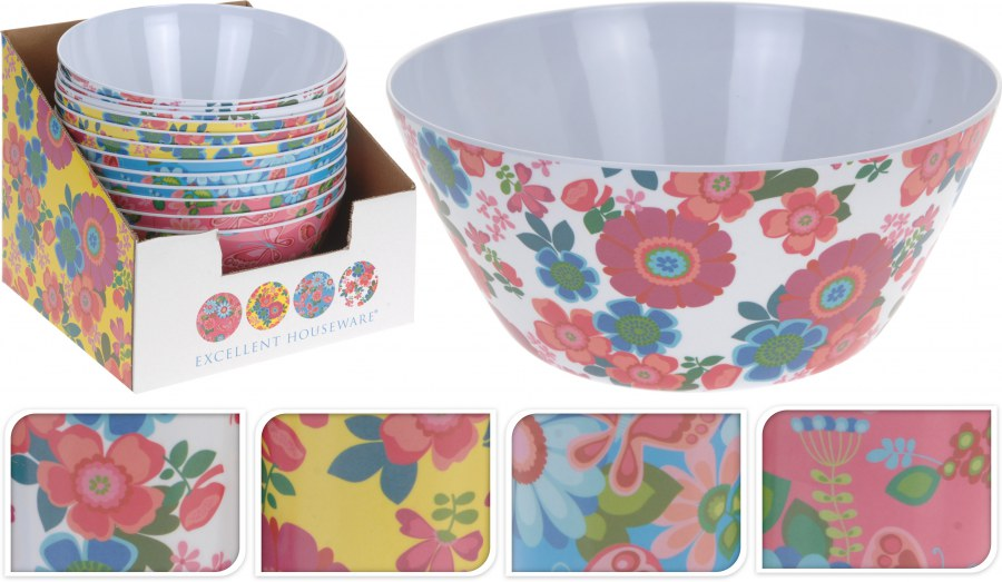 Plastová miska - květinový design