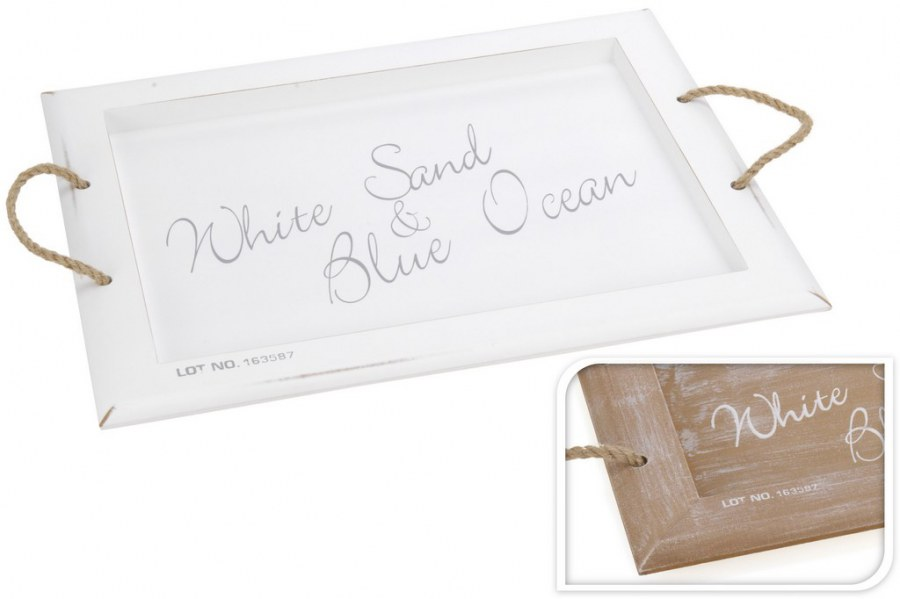 "Podnos - s provazem, ""white sand blue ocean"""